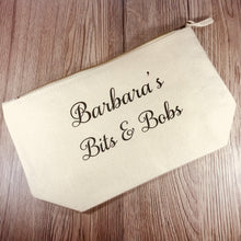Personalised Bits & Bobs Bag - Make Up Bag - Molly Dolly Crafts