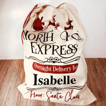 North Pole Express Personalised Christmas Sack