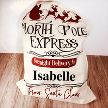 North Pole Express Personalised Christmas Sack - Christmas - Molly Dolly Crafts