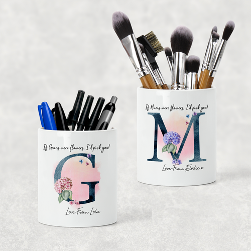 I'd Pick You Mother's Day Pencil Caddy / Make Up Brush Holder