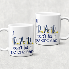 Father's Day If Dad Can't Fix it Personalised Watercolour Mug