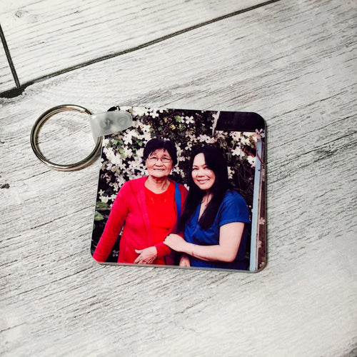 Personalised Photo Keyring Single & Double Sided
