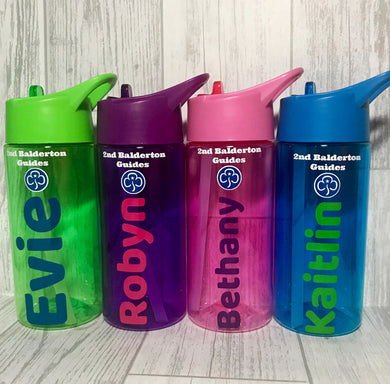 Kids Girlguiding, Brownies, Rainbow Water Bottle - Bottles - Molly Dolly Crafts