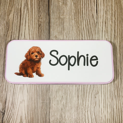 Labradoodle Puppy School Pencil Tin