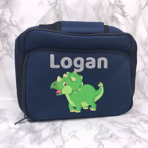 Dinosaur Insulated Personalised Lunch Bag Back to School