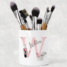 Cosmetic Initial Personalised Pencil Caddy / Make Up Brush Holder