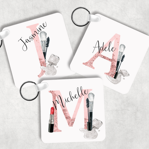 Make Up Alphabet Cosmetic Keyring