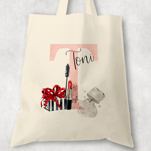 Make Up Tote Bag Personalised Alphabet MUA Gift