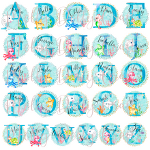 Marine Sea Life Alphabet Personalised School Pencil Tin