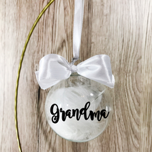Personalised Christmas Memorial Feather Glass Bauble - Bauble - Molly Dolly Crafts