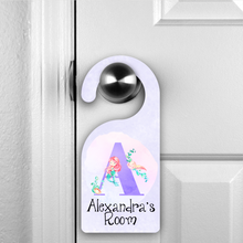 Mermaid Alphabet Personalised Room Door Hanger