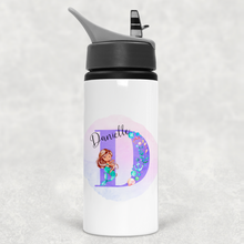 Mermaid Alphabet Personalised Straw Water Bottle 650ml