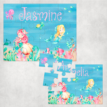 Mermaid Personalised Jigsaw Various Sizes & Pieces