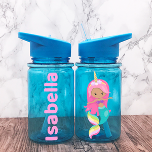 Mermaid Unicorn Kids Water Bottle Back To School | Personalised Ballet School Water Bottles | Limited stock available | Kids Bottle
