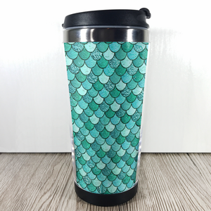 Mermaid Scale 420ml Travel Mug with Option to Personalise - Travel Mug - Molly Dolly Crafts