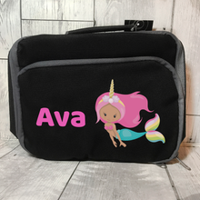 Mermaid Unicorn Insulated Personalised Lunch Bag Back to School