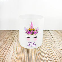 Personalised Unicorn Money Pot | Purple Flowers & Purple Horn - Money Bank - Molly Dolly Crafts