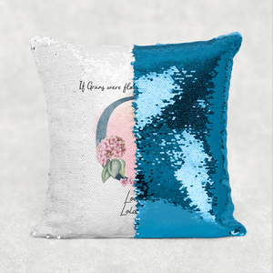 If Mums were Flowers Mother's Day Personalised Mermaid Sequin Cushion