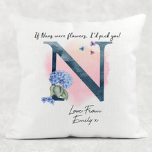 If Mums were flowers I'd pick you Mother's Day Floral Cushion Linen White Canvas