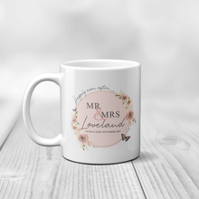 Mr & Mrs Happily Ever After Personalised Engagement Mug
