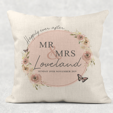 Mr & Mrs Newlywed Wedding  Linen/Canvas Cushion
