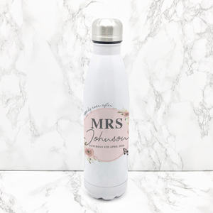 Wedding Happily Ever After Personalised Travel Flask Bride & Groom