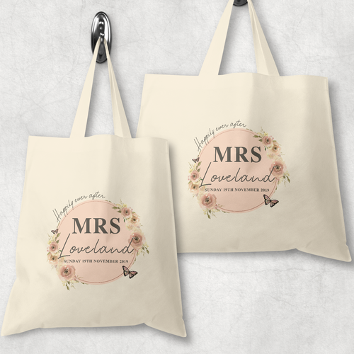 Mr & Mrs Happily Ever After Wedding Tote Bag