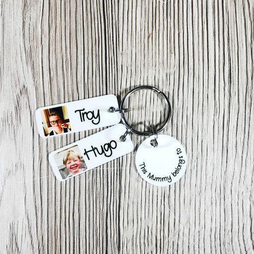 This Mummy/Daddy/Granny Belongs To Personalised Keyring