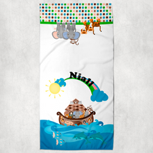 Noah's Ark Themed New Baby Vest Bib Hat Dribble Cloth Gift Set