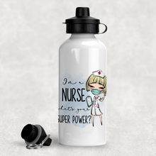 I'm A Nurse What's Your Superpower? Personalised Aluminium Water Bottle 400/600ml