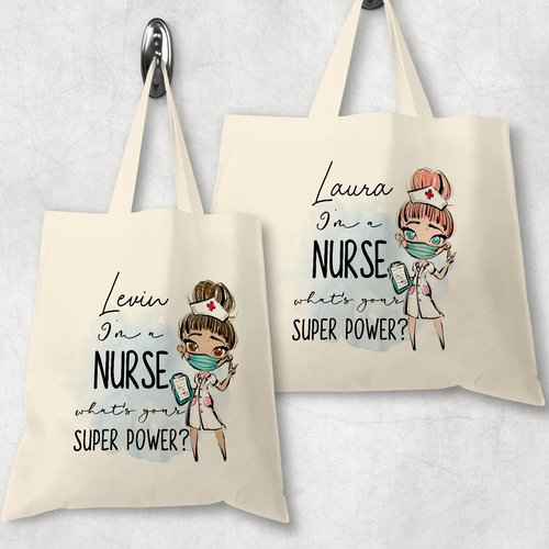 I'm a Nurse what's your superpower? Gift Personalised Tote Bag