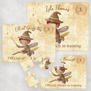 Flying Wizard Personalised Jigsaw Various Sizes & Pieces