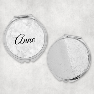 Personalised Marble Pocket Mirror
