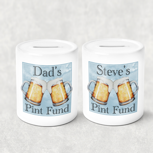 Pint Fund Personalised Money Savings Pot