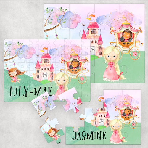 Princess Personalised Jigsaw Various Sizes & Pieces