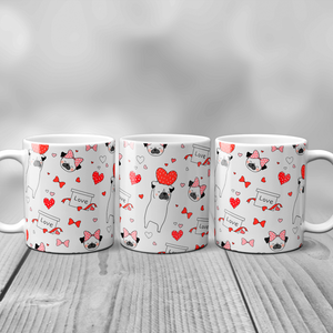 Pug Love Valentine's Day Mug - Mug - Molly Dolly Crafts