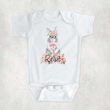 Floral Rabbit New Baby Vest Bib Hat Dribble Cloth Gift Set