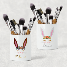 Bunny Rabbit Personalised Pencil Caddy / Make Up Brush Holder