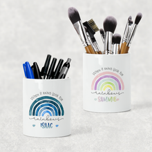 Rainbow Pastel/Blue Positive Pencil Caddy / Make Up Brush Holder