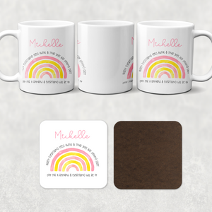 Positivity Rainbow Mug & Coaster
