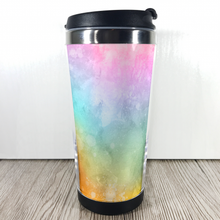 Rainbow Watercolour 420ml Travel Mug with Option to Personalise - Travel Mug - Molly Dolly Crafts