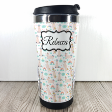 Unicorn 420ml Travel Mug with Option to Personalise