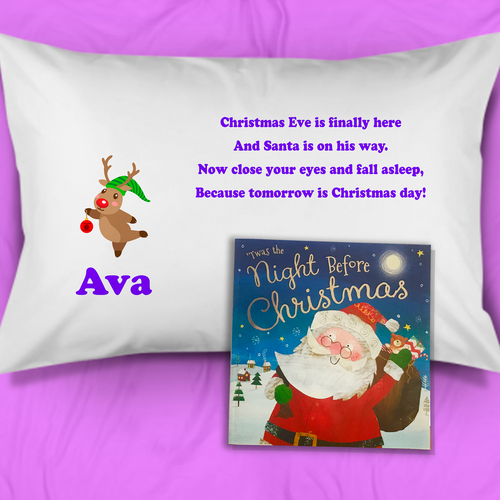 Rudolph Personalised Christmas Eve Pillow Case & Book - Christmas - Molly Dolly Crafts