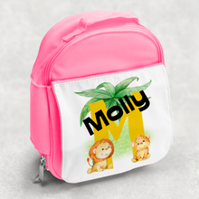 Safari Jungle Alphabet Personalised Kids Insulated Lunch Bag