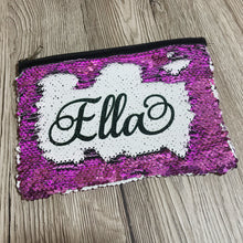 Personalised Mermaid Sequin Pencil Case/Make Up Bag -  - Molly Dolly Crafts