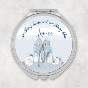 Something Borrowed Something Blue/Something Old Something New Personalised Wedding Compact Mirror
