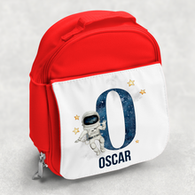 Space Alphabet Personalised Kids Insulated Lunch Bag