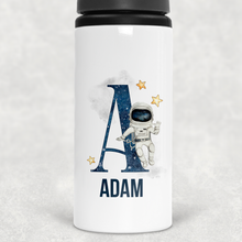 Space Alphabet Personalised Straw Water Bottle 650ml