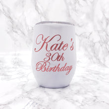 Personalised 400ml Stemless Wine Tumbler available in Black, White and Rose Gold - Bottles - Molly Dolly Crafts