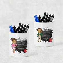 Teacher Superhero Watercolour Stationary Pencil Caddy